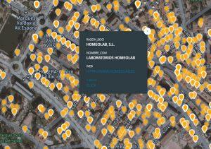 Empresas localizadas en la sección censal