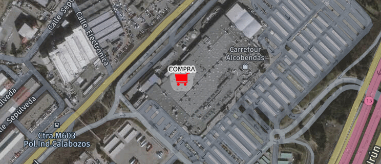 Localización identificada como lugar de compra habitual