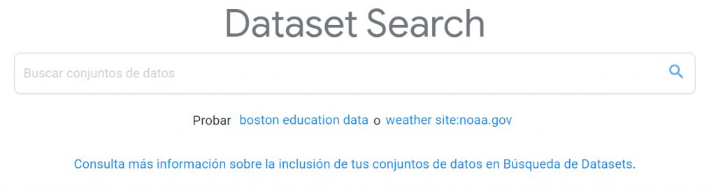 buscador de Google Data Search