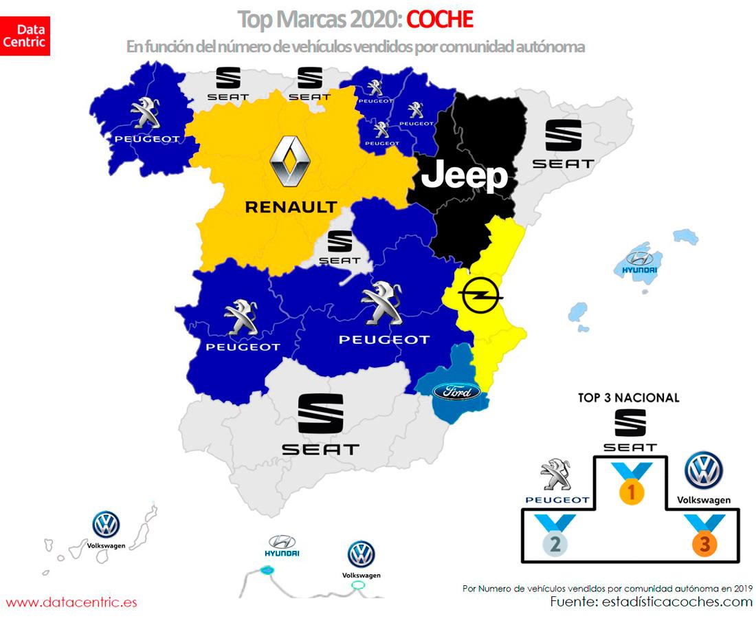 Mapa-top-marcas-COCHE-Espana-2020