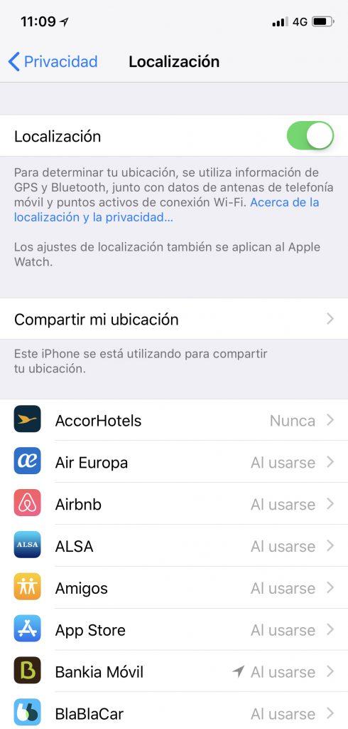 Seguridad y localizacion iphone