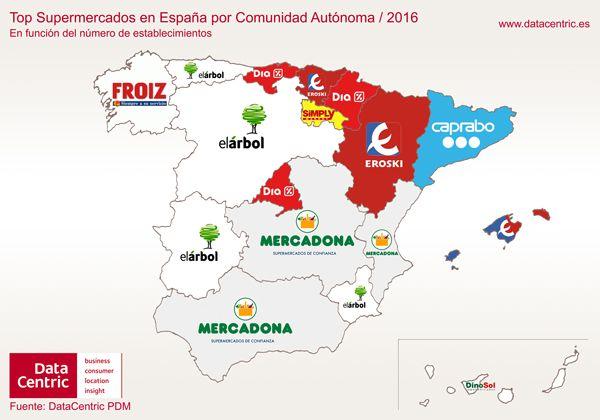 Retrato de España en función de sus marcas y su consumo, a través de 6 mapas por Comunidades Autónomas