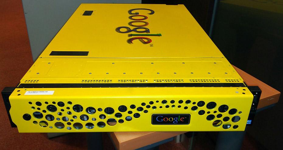 Yellow box de google